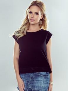 Свободная женская футболка с V-образным вырезом сзади