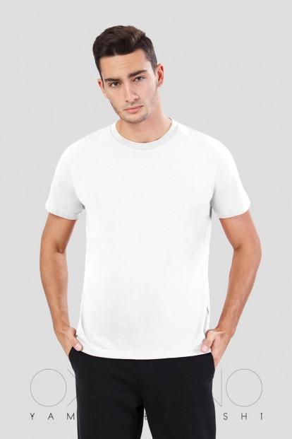Мужская хлопковая футболка с овальным вырезом Oxouno 0584 kulir