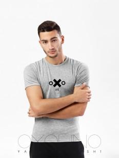 Мужская облегающая футболка Oxouno 0059-159 kulir