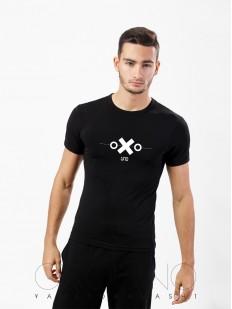 Мужская облегающая футболка Oxouno 0062-159 kulir