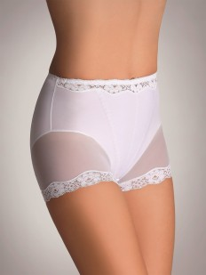 Элегантные корректирующие женские трусы шорты с кружевной отделкой