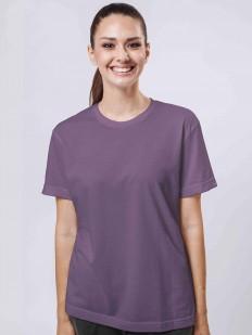 Женская свободная фиолетовая футболка из хлопка в стиле бойфренд