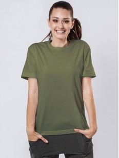 Женская свободная футболка цвета хаки в стиле бойфренд