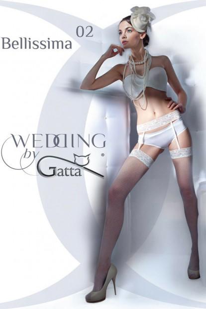 Свадебные чулки с кружевным поясом Gatta BELLISSIMA 02 - фото 1