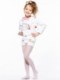 Тонкие детские колготки для девочек с цветочным узором