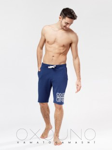 Хлопковые домашние мужские шорты синие