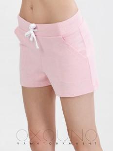 Хлопковые женские домашние шорты розовые OXOUNO