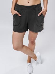 Короткие женские домашние шорты с карманами в цвете хаки
