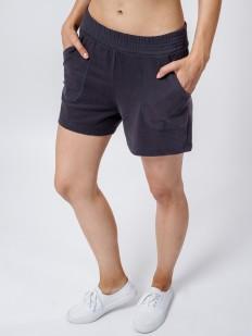 Короткие женские домашние шорты с карманами в цвете графит