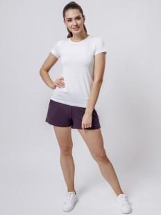 Домашние женские шорты с карманами и завязками фиолетовые