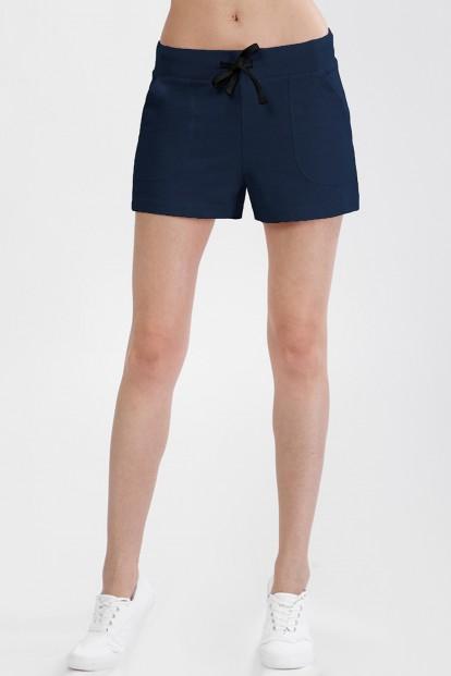 Короткие женские синие шорты с карманами OXOUNO 1041 - фото 1