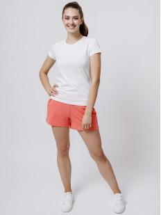 Домашние женские шорты из модала с карманами коралловые