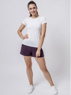 Домашние женские шорты из модала с карманами фиолетовые