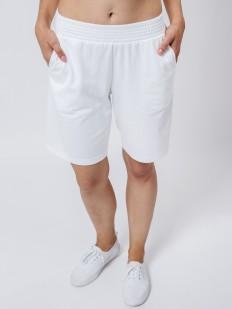 Удлиненные женские шорты для дома с карманами белые