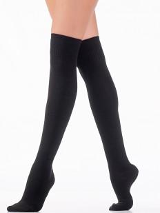 Плотные женские однотонные гольфины выше колена