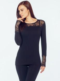 Элегантная приталенная блузка с кружевными вставками