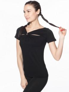 Блузка футболка из вискозы с коротким рукавом