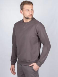 Хлопковый мужской джемпер серого цвета