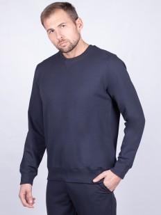 Хлопковый мужской джемпер синего цвета