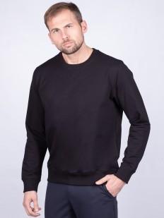 Хлопковый мужской джемпер черного цвета