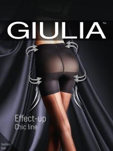 Утягивающие пуш ап колготки со швом Giulia EFFECT UP Chic Line 40