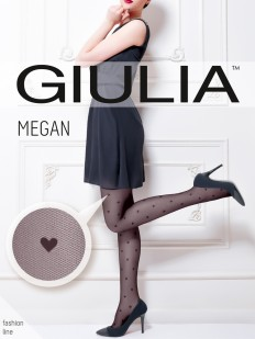 Колготки с сердечеками Giulia MEGAN 01