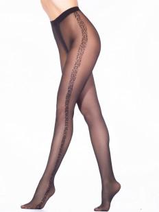 Женские фантазийные колготки 40 ден с леопардовой полоской