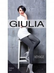 Вязаные хлопковые колготки Giulia VOYAGE 17