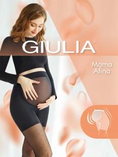 Колготки для беременных с шортиками и рисунком в горошек с сеточкой