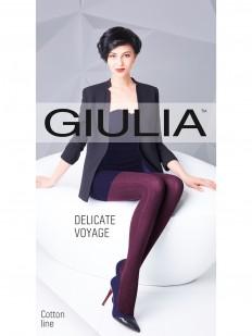 Вязаные хлопковые колготки Giulia DELICATE VOYAGE 02
