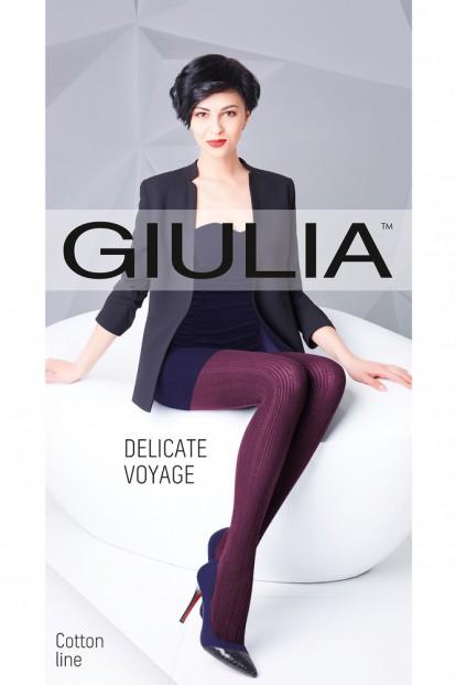 Теплые хлопковые вязаные колготки Giulia DELICATE VOYAGE 02