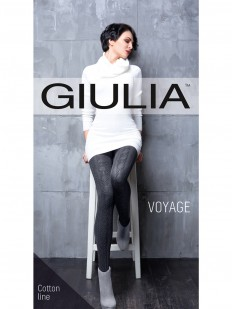 Вязаные хлопковые колготки Giulia VOYAGE 18