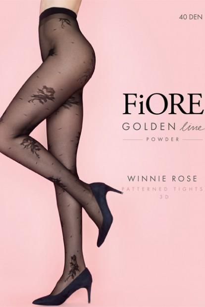 Фантазийные колготки с цветочным рисунком Fiore WINNIE ROSE 40 - фото 1