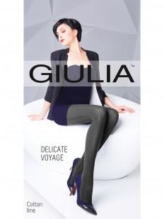 Вязаные хлопковые колготки Giulia DELICATE VOYAGE 03