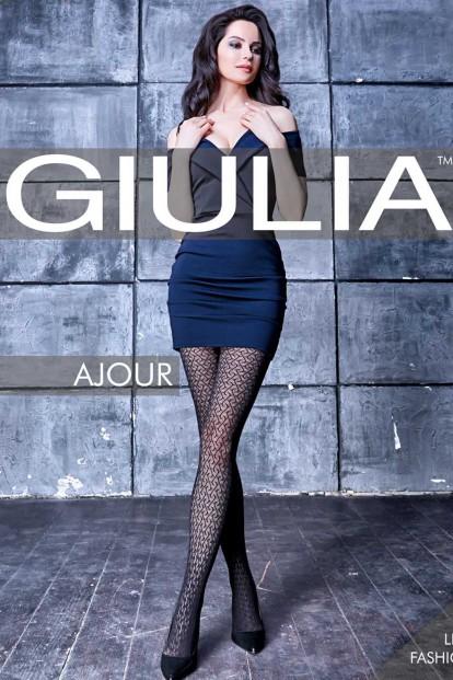 Ажурные женские колготки 60 ден Giulia AJOUR 01