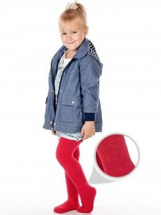 Детские махровые колготки для девочек (2-6 лет) с сердечками