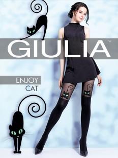 Матовые колготки с имитацией Giulia ENJOY CAT 60 den