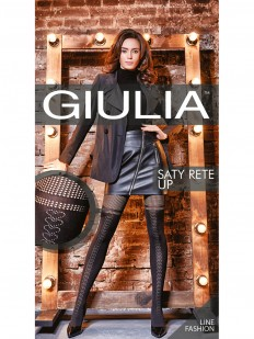 Фантазийные колготки Giulia Saty rete up 02