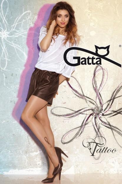 Фантазийные колготки с тату Gatta TATOO 23 - фото 1