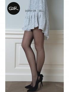 Фантазийные женские колготки в мелкий горошек 20 ден