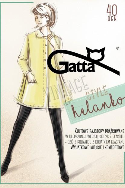 Винтажные колготки в полоску рубчик Gatta HELANKO 40 - фото 1