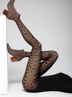Матовые женские колготки 40 ден с леопардовым рисунком