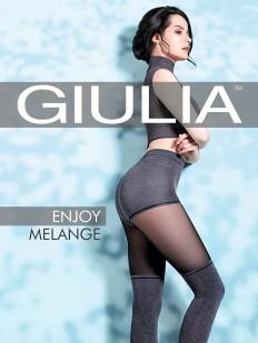 Матовые колготки с имитацией Giulia ENJOY MELANGE 60 den