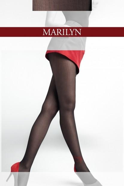 Фантазийные колготки с сердечком Marilyn ALLURE K03 - фото 1