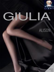 Последний товар!!! Колготки с люрексом в горошек Giulia ALISON 02