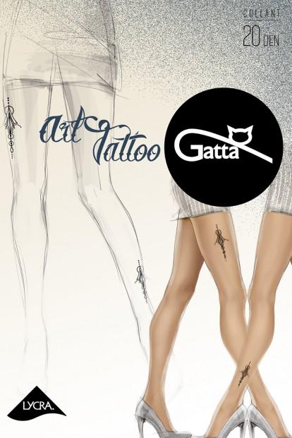 Фантазийные колготки 20 ден с тату Gatta ART TATOO 03 - фото 1