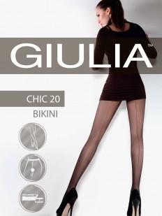 Колготки со швом и трусиками Giulia CHIC 20 Bikini