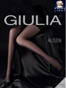 Последний товар!!! Колготки в горошек с люрексом Giulia ALISON 01
