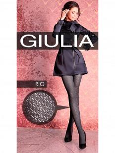 Хлопковые колготки с вязаным рисунком  Giulia RIO 09