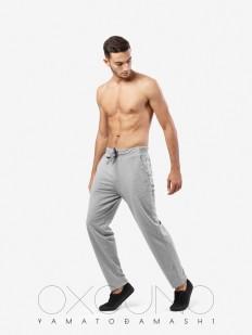Спортивные мужские домашние штаны из хлопка серые